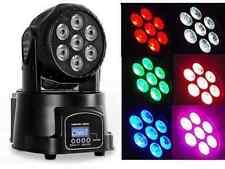 4PCS/BOX  Moving Head Spot Stage Light AC90-260V 10W 4 in 1 7pcs RGB LED Lamp