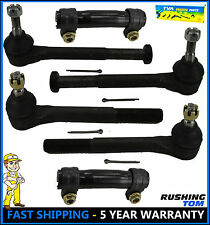 6 PCS Tie Rod Ends Inner Outer Sleeves Chevy GMC K1500 K2500 K3500 88-99
