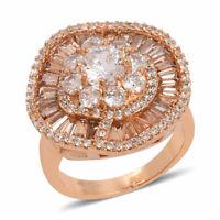 Goldtone Champagne Cubic Zircon Cubic Zirconia CZ Statement Ring Size 8 Ct 5
