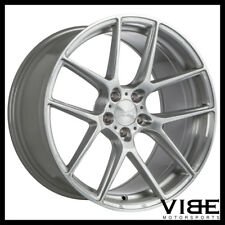 """19"""" ACE AFF02 FLOW FORM SILVER CONCAVE WHEELS RIMS FITS FORD MUSTANG GT GT500"""