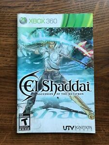 El Shaddai Ascension of the Metatron XBOX 360 Instruction Manual Only