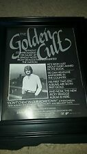 Ricky Skaggs Don't Cheat In Our Hometown Rare Original Promo Poster Ad Framed!