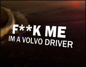 VOLVO DRIVER Car Decal Vinyl Vehicle Bumper Sticker C70 C30 V70 V60 V50 V40 S40