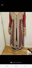 Maroon Red Purple Pakistani Indian Bridal Wedding Dress