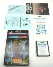 Summer Games (Atari 2600, 1987) By EPYX (Box, Cartridge & Manual) NTSC