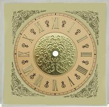 """New 7-1/2"""" Square Embossed Gold Metal Clock Dial (Dm-43)"""