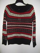 CHAPS - WOMEN - SWEATER - RED/BLACK/WHITE - SIZE SMALL         (AC-41-124)