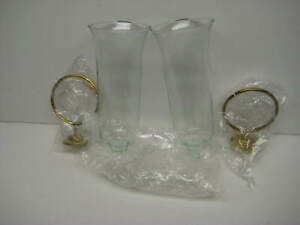 Decorative Wall Mount Flower Vases - Set of Two - Clear