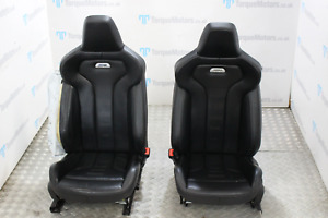 BMW M4 F82 Front & rear black leather seats