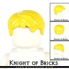 Lego Minifigure Hair YELLOW 62810 Male Boy Short Tousled with Side Part City