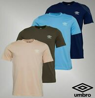 Mens Umbro Short Sleeve Crew Neck Top Jersey T Shirt Sizes from S to XXL