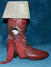 Adorable Resin Cowboy Boot Birdhouse! Bandana!