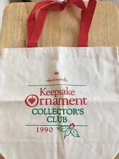 Hallmark Keepsake Ornament Collector's Club Canvas Bag 1990