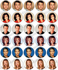 30 x Friends Party Edible Rice Wafer Paper Cupcake Toppers