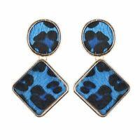 Blue Leopard Print Earrings. Statement Gold Leopard Animal Fashion Stud Zara