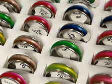 "Wholesale 50 pcs Color Mix ""Cat Eye "" Fashion Stainless Steel Rings Jewelry lots"