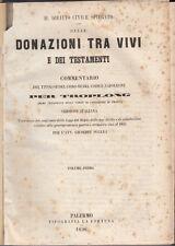 DIRITTO TROPLONG DELLE DONAZIONI TRA VIVI E DEI TESTAMENTI 1856