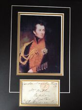 WILLIAM HENRY CLINTON - ARMY GENERAL - NAPOLEONIC WARS -  SIGNED PHOTO DISPLAY