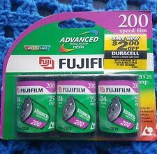 3x Fujifilm Color 200 speed film 24mm 25 Exp Each Advanced Photo System Nexia