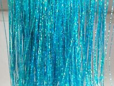 "AQUA Blue Extra Sparkle BLING Hair Extension Tinsel Extensions 40"" Tinsel"