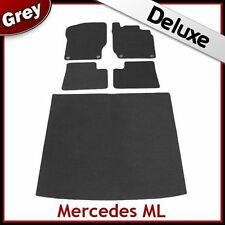 Tailored Carpet Car & Boot Mats LUXURY 1300g for MERCEDES ML W164 2005-2011 GREY