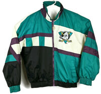Mighty Ducks Of Anaheim 90's Jacket Vintage Pro Player Daniel Young Sz M/L Large