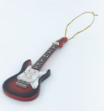 Realistic Miniature Brown / Sunburst Electric Guitar Christmas Tree Ornament
