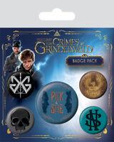 The Crimes of Grindelwald Badges 5 Pack Pyramid Stocking Filler Newt Scamander