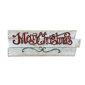 Handmade Large Wooden 'Merry Christmas' Sign, Suitable for Decoration