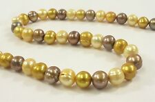 8-9mm Multi Color Potato Freshwater Pearl Beads, Mixed Color Potato Pearls(#552)