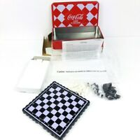 COCA-COLA MINI CHESS AND CHECKERS TWO GAME SET Magnetic + Tin COKE REWARDS 2012