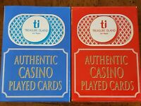 24 Decks(2-Colors) Treasure Island Casino Las Vegas Blue Playing Cards.