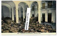 1907 Warehouse of Cigar Factory Leaf Tobacco Havana Cuba Postcard UNUSED Harris