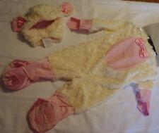 Rubie's 12-18 Months Pink Lamb Halloween Jumpsuit Headpiece Costume NWT