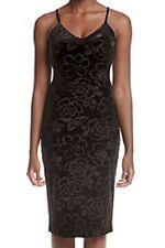 Jessica Simpson NEW Black Velvet Women's Size 14 V-Neck Sheath Dress $98 #050