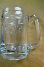 "SUPERB EMBOSSED ""C M - (Captain Morgan's)"" HEAVY THICK GLASS TANKARD"