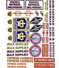 Vehicle Logos Signs Lorries Truck NT2 Colour N Gauge Scale Langley Models Decals