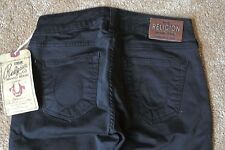 TRUE RELIGION SHANNON SATEEN SKINNY Black Jeans 26X32 NWT$234 Stretch-Italian!