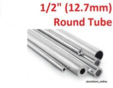 ALUMINIUM ROUND TUBE 1/2 (12.7mm) 2 thickness, lengths up to 2500mm 2.5m