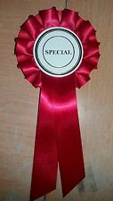 special Rosettes x10 Dog Show Horse Pet Child any colour
