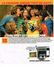 PUBLICITE ADVERTISING 104  1978  POLAROID  appareil photo K2 INSTANTANE