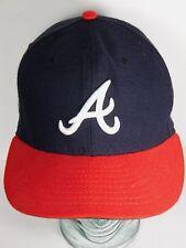 ATLANTA BRAVES NEW ERA MLB Baseball AUTHENTIC COLLECTION ON FIELD CAP SIZE 7