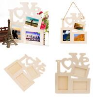 Lovely Sweet Wooden Love Hollow Photo Picture Frame Family Home Decor Pop