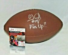 O.J. McDuffie Autographed Signed Miami Dolphins Brown Logo Fins Up Football JSA