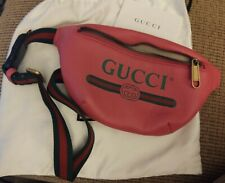 Preloved GUCCI Small Logo Pink Printed Belt Bag Waist Pouch 527792