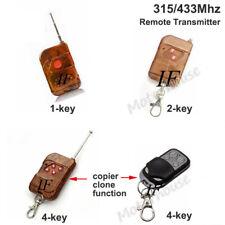 315/433MHz Wireless RF Remote Switch Button Key Transmitter For Garage Gate Door