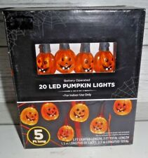 New Halloween Indoor Led 20 Pumpkin Party Lights Battery Operated