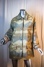 RALPH LAUREN Long South Western Indian Blanket Concho Wool Coat Jacket M