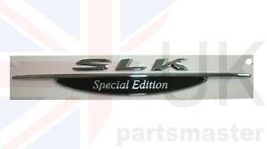 Mercedes Benz SLK Klasse W170 Neu Original Vorne FENDER Special Edition Emblem