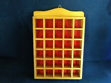 Vintage Wooden Thimble Display Case Rack - Holds Thirty Thimbles